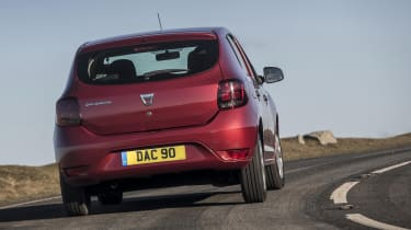 Dacia Sandero hatchback rear cornering
