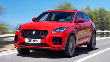 The Jaguar E-Pace is an Audi Q3-sized SUV and though it's available with front-wheel drive, most will be 4x4