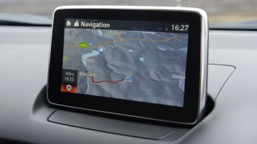 The Sat Nav provide smart graphics and useful functionality