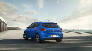 2021 SEAT Ibiza Xcellence Sapphire Blue - rear 3/4