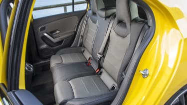 There's room for two adults in the rear, but the VW Golf R is more comfortable for rear passengers