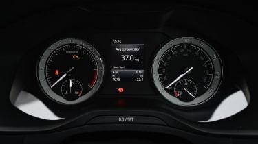 Skoda Karoq SUV instrument gauges
