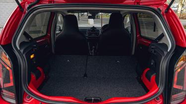 Volkswagen up! hatchback boot - seats down