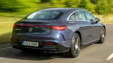 Mercedes EQS hatchback rear 3/4 tracking