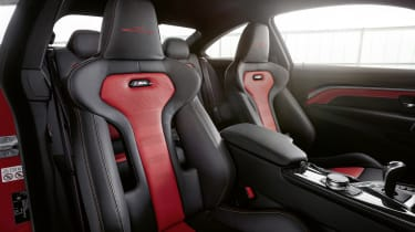 BMW M4 M Heritage Edition seats - red and black