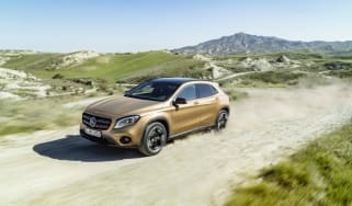 Pick the potent 376bhp GLA 45 AMG model and you'll find new spoilers front and rear and two-tone alloy wheels