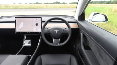 Tesla Model 3 - interior dashboard wide view