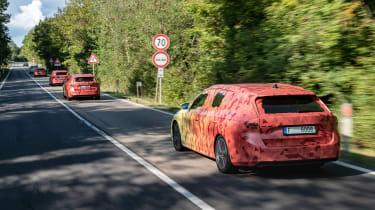2020 Skoda Octavia Estates in camouflage - convoy