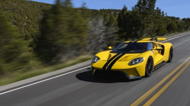 ...but the Ford GT's massive size makes it tricky to place on normal roads