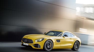 An new 'Panamericana' radiator grille also adorns the updated Mercedes-AMG GT, complete with vertical chrome strips