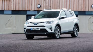 The RAV4 is tall enough to offer front and rear seat passengers generous headroom