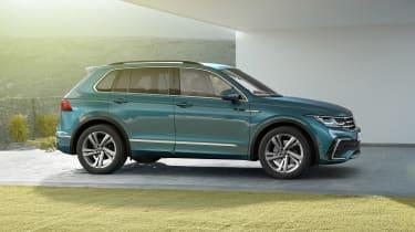 Facelifted Volkswagen Tiguan side view