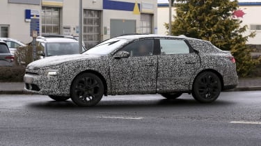 New Citroen crossover in camouflage - side view