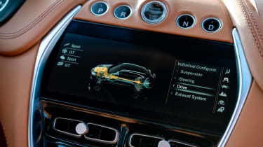 Aston Martin DBX SUV infotainment display