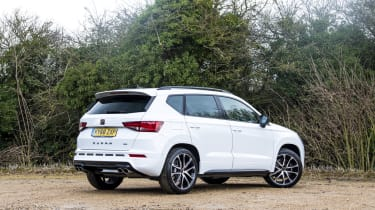 Cupra Ateca SUV - rear 3/4 static view