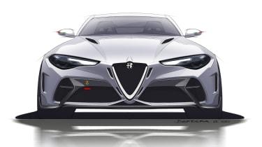 Alfa Romeo Giulia GTAm sketch