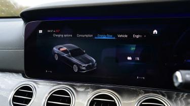 Mercedes E-Class hybrid settings menu