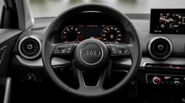 Audi Q2 SUV steering wheel
