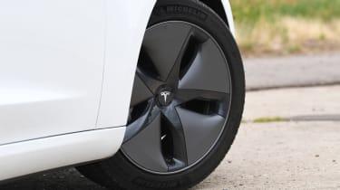 Tesla Model 3 - front wheel close up