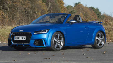 The Audi TT RS Roadster is a high-performance sports car with supercar-like performance