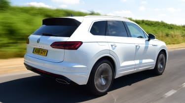 Volkswagen Touareg SUV rear 3/4 tracking