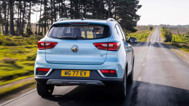 MG ZS EV SUV rear driving