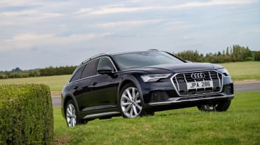Audi A6 Allroad quattro estate front 3/4 off-road