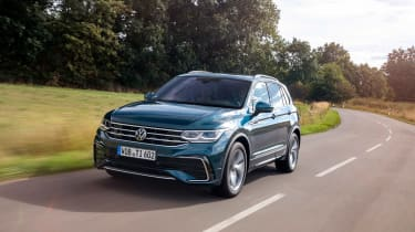 Volkswagen Tiguan SUV front tracking