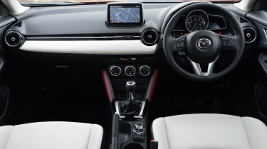 Material quality is high inside the CX-3, and there is an upmarket ambience.