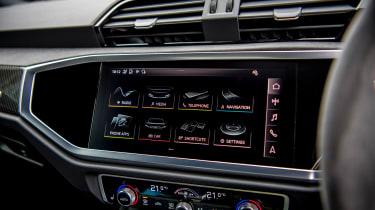 Audi RS Q3 infotainment menu