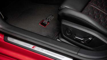 Audi RS7 branded floor mats and door kickplates