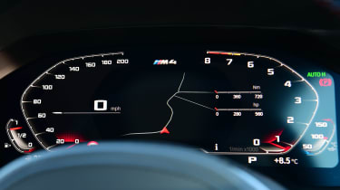 BMW M4 Coupe gauges