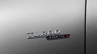 2019 Mercedes-AMG CLA 45 S Shooting Brake - turbo badging close up