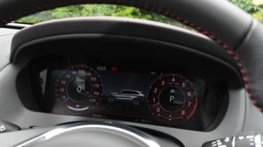 Jaguar F-Pace SVR - digital dial cluster close up