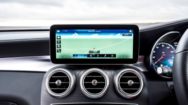 Mercedes GLC Coupe SUV infotainment display