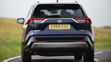 Toyota RAV4 Dynamic - rear view cornering
