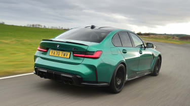 BMW M3 Competition saloon - rear 3/4 view
