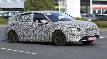 2021 Peugeot 308 prototype - front 3/4 passing view