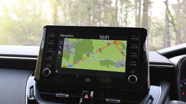 Toyota Corolla Touring Sports estate infotainment display