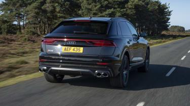 Audi SQ8 - rear 3/4 view dynamic