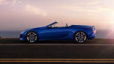 Lexus LC500 Convertible side view