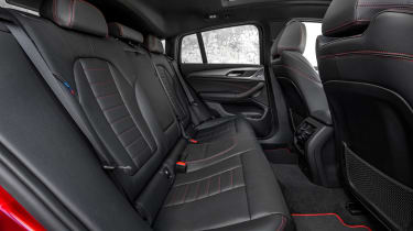 BMW X4 interior shot, rear seats, looking to left