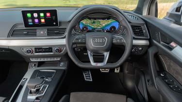 The Q5 is available with a 12.3-inch virtual cockpit in place of traditional gauges
