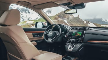 The CR-V is fitted with Honda Sensing active safety kit, including autonomous emergency braking