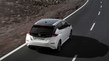 The Leaf has an innovative e-Pedal, that allows you to speed up and come to a stop using just the accelerator pedal
