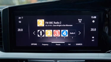 Vauxhall Mokka-e radio screen