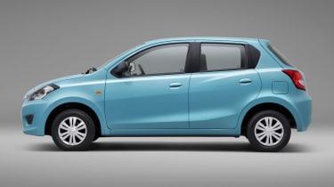 Datsun GO hatchback 2013 side profile