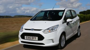 The Ford B-MAX is a small five-seat MPV based on the same underpinnings as the Ford Fiesta