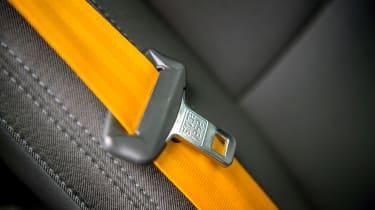 Polestar 2 hatchback seatbelt