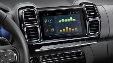 Citroen C5 Aircross plug-in hybrid - electric driving graphic interface